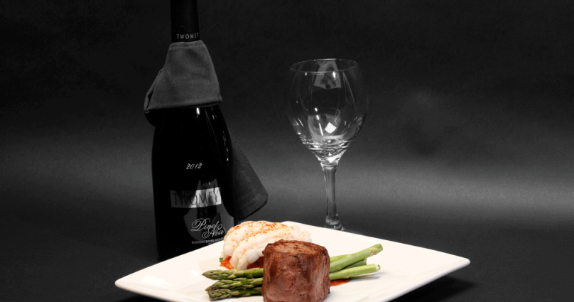 Entree with Wine